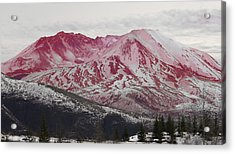 Red Hot St Helen Acrylic Print by Rich Collins