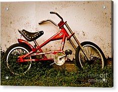 Red Hot Stingray Bike Acrylic Print by Sonja Quintero
