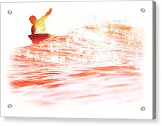 Acrylic Print featuring the photograph Red Hot Surfer by Paul Topp