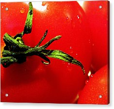 Red Hot Tomato Acrylic Print by Karen Wiles