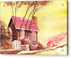 Red House R Acrylic Print by Anil Nene