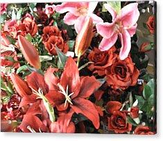 Red I Say Acrylic Print