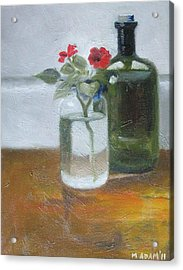 Red Impatiens Acrylic Print by Mary Adam