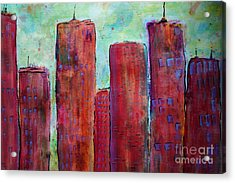 Red In The City Acrylic Print