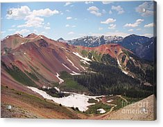 Red Iron Mountain Acrylic Print by Teri Brown