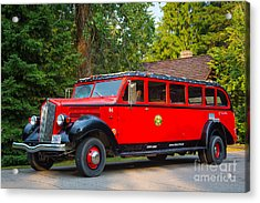Red Jammer Acrylic Print by Inge Johnsson