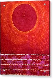 Red Kachina Original Painting Acrylic Print