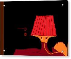 Red Lamp 10.5 Acrylic Print by Anita Dale Livaditis