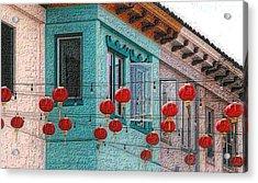 Red Lanterns Acrylic Print
