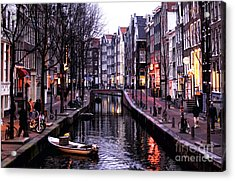 Red Light District Acrylic Print by John Rizzuto