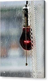 Red Light Acrylic Print by Sophie Vigneault