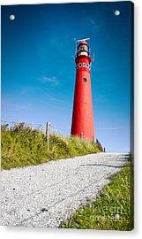 Red Lighthouse And Deep Blue Sky. Acrylic Print