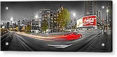 Red Lights Sydney Nights Acrylic Print by Az Jackson