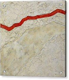 Red Line Acrylic Print