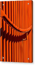 Red Lines And Curves Acrylic Print