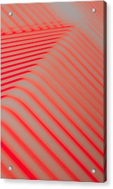 Red Lines Acrylic Print