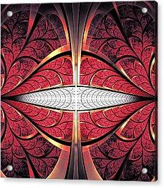 Red Lips Acrylic Print by Anastasiya Malakhova