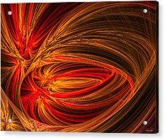 Red Luminescence-fractal Art Acrylic Print by Lourry Legarde