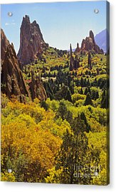 Red Lyons Sandstone Formations Acrylic Print