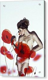 Red Acrylic Print by Marinastudio