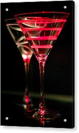 Red Martini Acrylic Print by Spencer McDonald