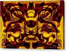 Red Mask Acrylic Print by Omaste Witkowski