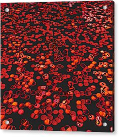 Red Matter/orgasmic Symbolism Acrylic Print by George Curington