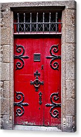 Red Medieval Door Acrylic Print by Elena Elisseeva