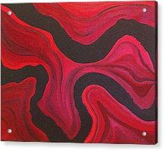 Red Acrylic Print by Megan Washington