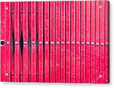 Red Metal Bars Acrylic Print