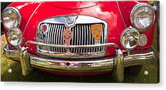 Acrylic Print featuring the photograph Red Mg Sports Car Canada by Mick Flynn