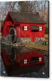 Acrylic Print featuring the photograph Red Mill by Bill Woodstock