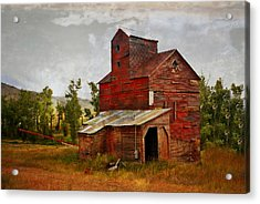Red Mill Montana Acrylic Print by Marty Koch