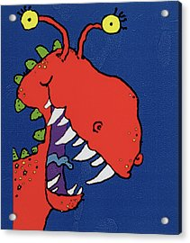 Red Monster Acrylic Print by Maylee Christie