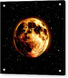 Red Moon Acrylic Print