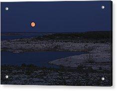 Red Moon Rising Acrylic Print