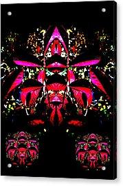 Red Mosaic Acrylic Print by Aliceann Carlton