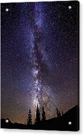Red Mountain Milky Way Acrylic Print by Darren  White