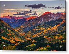 Red Mountain Pass Sunset Acrylic Print by Darren  White