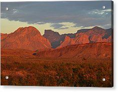 Red Mountains Acrylic Print