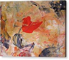 Red Acrylic Print by Nancy Kane Chapman