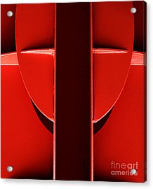 Red Acrylic Print by Newel Hunter