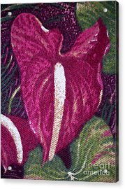Red Orchid Print Acrylic Print
