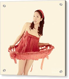 Red Paper Dress Acrylic Print