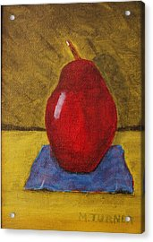 Red Pear Acrylic Print by Melvin Turner