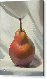 Red Pear Acrylic Print by Peter Orrock