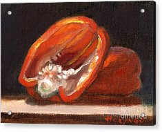 Red Pepper Acrylic Print by Addie Hocynec