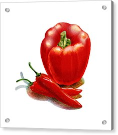 Red Pepper Hot Peppers Acrylic Print