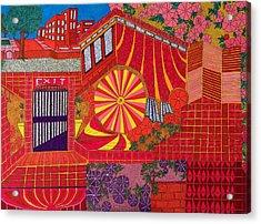 Red Pinwheel Acrylic Print