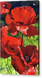 Red Poppies Acrylic Print by Suzanne Schaefer
